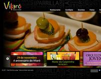 Site do Vilaró Parrilla Lounge (2011)