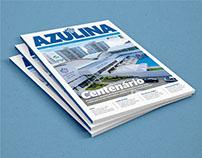 Projeto Gráfico Editorial   Revista Azulina