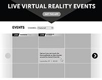 NextVR Web Site Wireframes