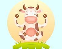 Meditating Cow