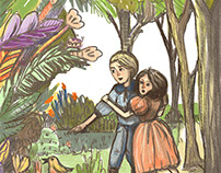 Mary & Dickon from The Secret garden by Frensis Bernet