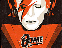 AntiMonotonia - David Bowie : Orange Poster