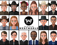 Westworld character illustration