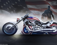 Captain America's bike
