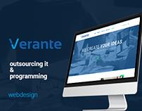 Verante - outsourcing IT & programming web design