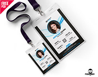 Office Photo Identity Card Template PSD