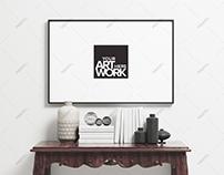 Minimalist Poster Frame Mockup Landscape