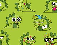 Dino Sticker for Feeligo