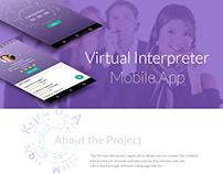 Ui/UX Design For Virtual Interpreter Mobile App