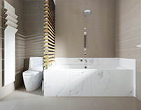 Interior design bathroom residential house S.G. Belgium