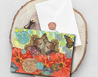 fawn note cards