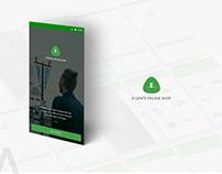 E-Gents Online Shop  Material Mobile App
