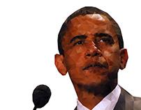 Barack Obama - Polygon Portrait (Gradient effect)