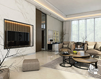 contemporary Living And Dining Space Design (Kuwait)
