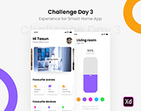 Challenge Day 3 - Experience for Smart Home App