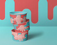 Sprinkles, ice cream logo and packaging