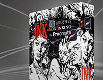 INK. for Procreate: 63 Brushes for realistic Inking