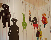 Paper doll installation