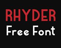 Rhyder (Free Font)