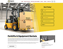 Taylor's Forklifts E-Commerce Design
