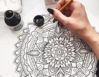 Mandala on plain white