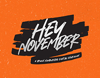 Hey November Font Free for commercial use