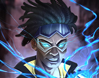 Static shock fanart for fun