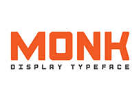 Monk | Display Typeface [FREE]