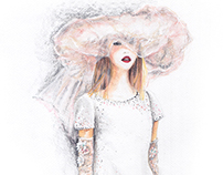 Chanel Spring 2015 Couture Bride Fashion Illustration
