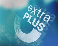 "Логотип ""Extra plus"" - клининговая компания."