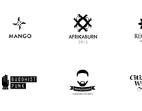 Monochrome Logo designs (College Work) 2015