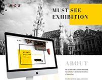 Landing page for MCE (exhibition)