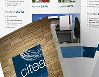 CITEA.- Diseño - desarrollo de díptico y cuadríptico
