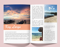 Travel magazine spread