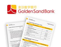 Golden Sand Bank - identyfikacja wizualna
