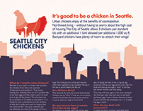 Seattle City Chickens Poster