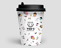Autumn edition illustration for coffee cups