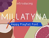 Millatyna   Happy Playfull Font