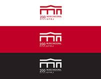 Logomarca comemorativa 200 anos Museu Nacional UFRJ