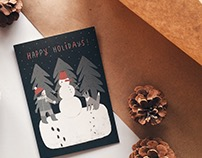 Holiday postcards for RWF