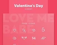 FREE Valentine's Day Iconset