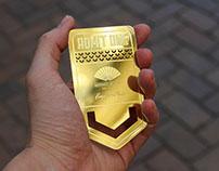 Brass Finish VIP Passes