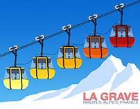 La Grave Ski Poster