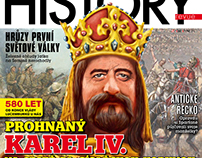 My illustration on cover of magazine History revue