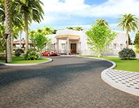 Graphic design of indoor and outdoor villas
