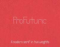 ProFuturic - A Modern Serif Font