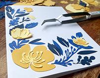 Floral Designed Cards
