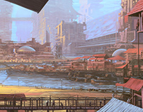 digital painting - fantasy city
