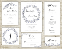 Hand painted wedding stationery collection