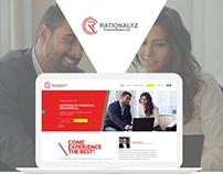 Website UI Design for Rationalyz Financial firm